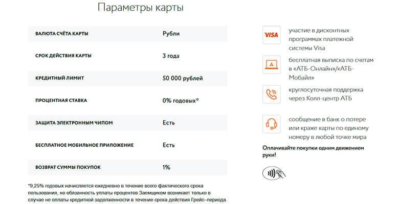 Атб онлайн кредитная заявка